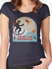 Gruss vom Krampus III Women's Fitted Scoop T-Shirt