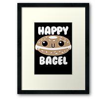 Happy Bagel Framed Print