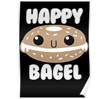Happy Bagel Poster