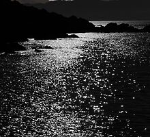 tranquil rocky kerry moonlit night view by morrbyte