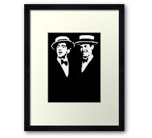 martin and lewis Framed Print