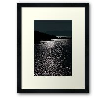tranquil rocky kerry night view Framed Print