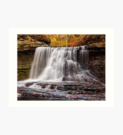 McCormick's Creek State Park Waterfall, Indiana Art Print