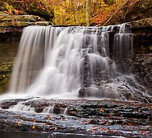 McCormick's Creek State Park Waterfall, Indiana by Kenneth Keifer