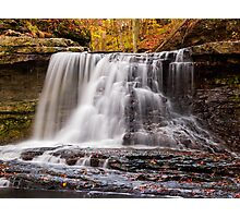 McCormick's Creek State Park Waterfall, Indiana Photographic Print