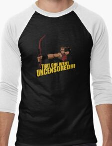 That One Went Uncensored! Men's Baseball ¾ T-Shirt