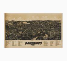 Panoramic Maps Amesbury Mass Baby Tee