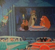 Doggy Drive In Lady Tramp Peter Pan Wendy Dalmatians by notheothereye