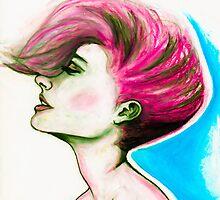 oil pastel portrait illustration by heylilahey