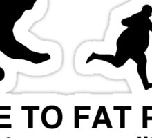 Be nice to fat people  Sticker