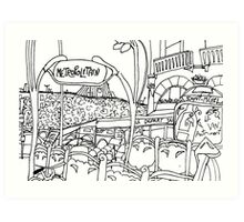 paris metro stop Art Print