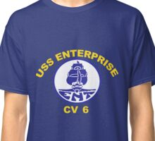 USS Enterprise CV-6 Crest for Dark Colors Classic T-Shirt