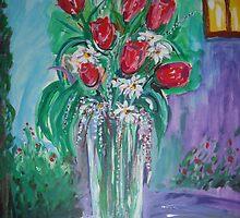 """ Abstract Flowers n° 2 "" Acrylic on cardboard. by domenicovignali"