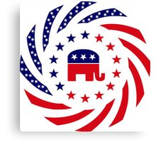 Republican Murican Patriot Flag Series Canvas Print