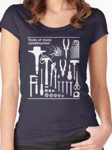 Tools of Mass Construction Women's Fitted Scoop T-Shirt