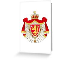 Greater Coat of Arms of Norway Greeting Card