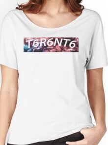 Toronto Logo Reverse WHITE  Women's Relaxed Fit T-Shirt