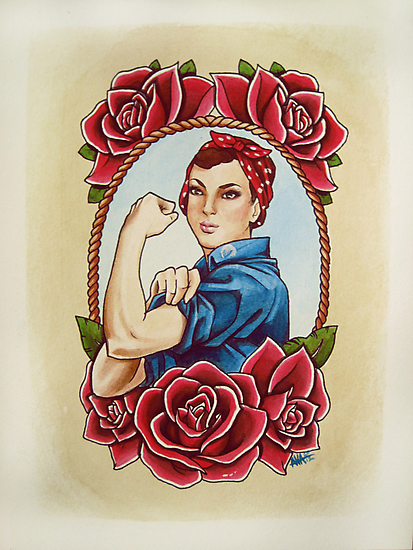 Rosie with Roses by Alivia Marie