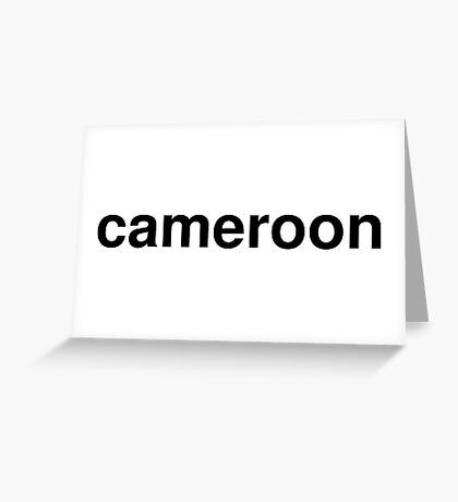 cameroon Greeting Card