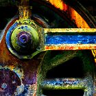 Colors Of The Train Wheel by Dana Horne