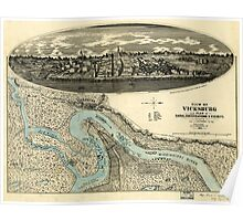 Panoramic Maps View of Vicksburg and plan of the canal fortifications  vicinity Poster