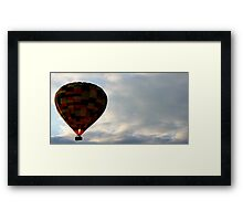 BALLOON OVER DERBYSHIRE Framed Print