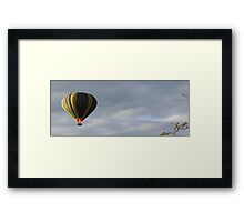 BALLOON LAUNCH Framed Print