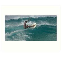 Surfing The North Shore Art Print