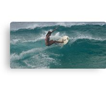 Surfing The North Shore Canvas Print