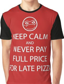 Keep Calm About Late Pizza Graphic T-Shirt