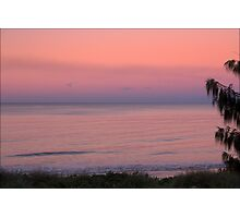 A PINK SUNSET AT WOODGATE BEACH Photographic Print