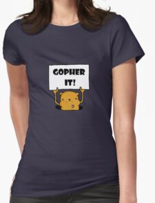 Gopher It! Womens Fitted T-Shirt