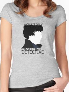 World's Only Consulting Detective (outside edition) Women's Fitted Scoop T-Shirt