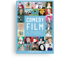 Comedy Film Alphabet Canvas Print