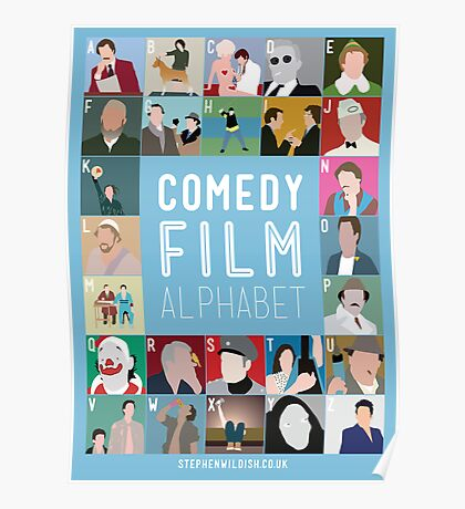 Comedy Film Alphabet Poster