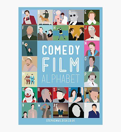 Comedy Film Alphabet Photographic Print
