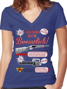 The brand new Boomstick Women's Fitted V-Neck T-Shirt