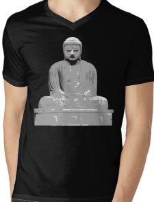 Japanese Buddha T-Shirt Mens V-Neck T-Shirt