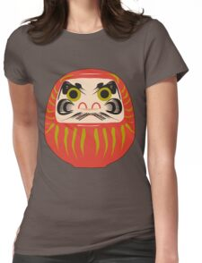 Japanese Daruma T-Shirt Womens Fitted T-Shirt