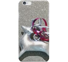 Christmas:  Red Ribbon Reindeer iPhone Case/Skin