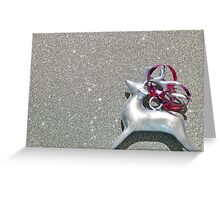 Christmas:  Red Ribbon Reindeer Greeting Card