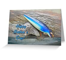 Fathers Day Greeting Card - Vintage Floyd Roman Nike Fishing Lure Greeting Card