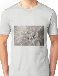 Monochrome Chrysanthemum Close-up Unisex T-Shirt