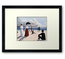 Atlantic City Beach Framed Print
