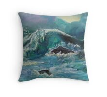 Ghosts of the Cove of Eternal Love Throw Pillow