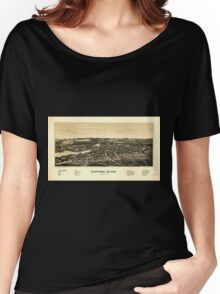 Panoramic Maps Sanford Maine Women's Relaxed Fit T-Shirt