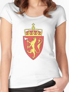 Coat of Arms of Norway  Women's Fitted Scoop T-Shirt