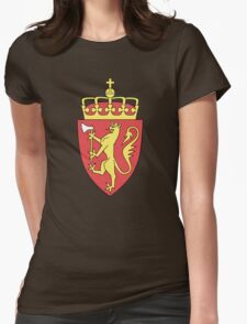 Coat of Arms of Norway  Womens Fitted T-Shirt