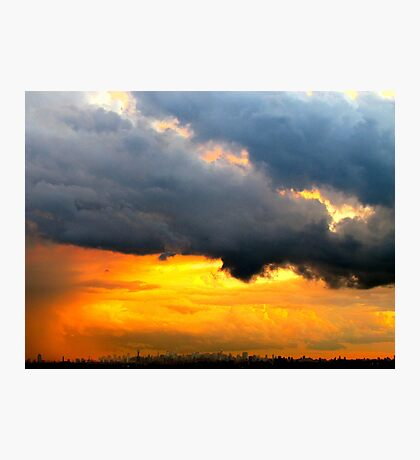 Cloudy Sunset, New York City  Photographic Print
