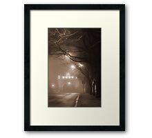 Misty Arch Framed Print